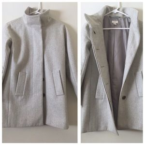 J.Crew Womens City Jacket (Button) light Grey